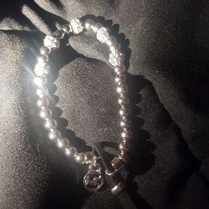 Michael kors crystal and silver bracelet